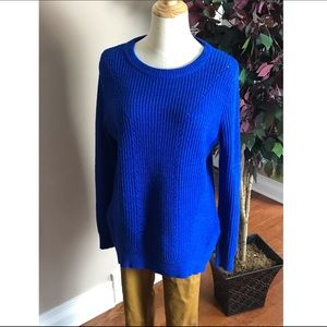 Mossimo Blue Pullover Knit Sweater sz Medium